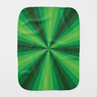 Optical Illusion Green Burp Cloth