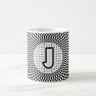Optical Illusion Monogram J Coffee Mug