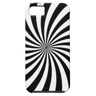 Optical Illusion Moving Black and White Swirl Case For The iPhone 5