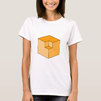 Optical Illusion - Orange Cubes T-Shirt