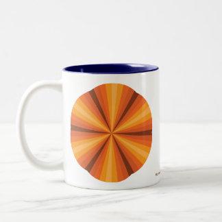 Optical Illusion Orange Mug
