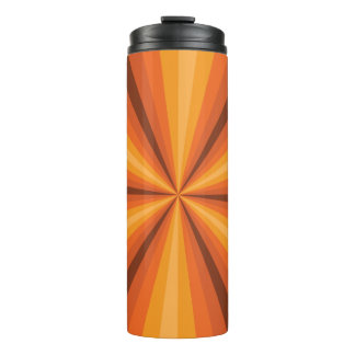 Optical Illusion Orange Thermal Tumbler