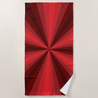 Optical Illusion Red Beach Towel