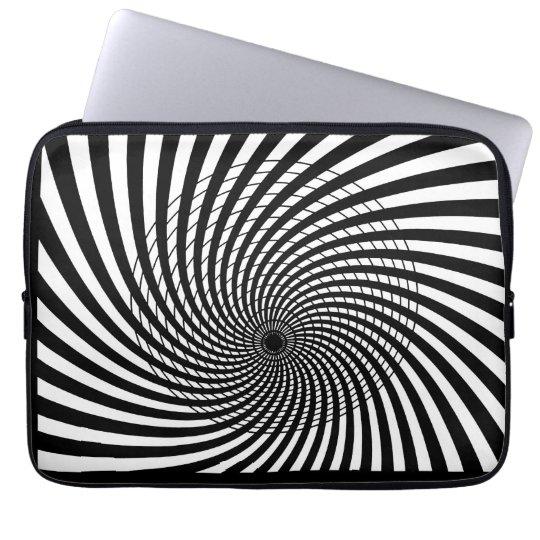 OPTICAL ILLUSION Retro Art Laptop Sleeve