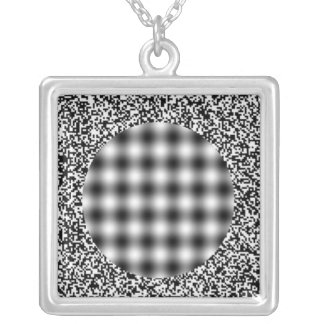 Optical Illusion Silver Plated Necklace