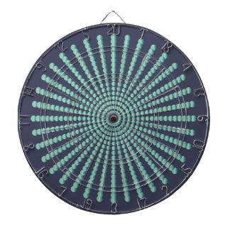 Optical illusion spiral circles dartboard