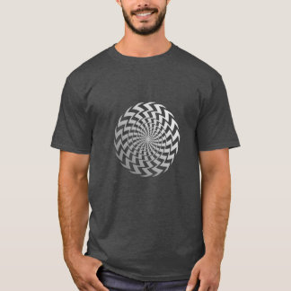 Optical illusion spiral T-Shirt