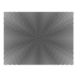 Optical Illusion Star Lines Postcard