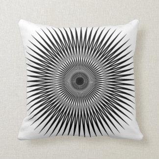 optical illusion  throw pillow black_white no2