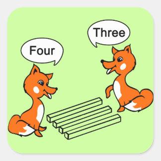 Optical illusion Trick Square Sticker