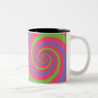Optical Illusion Two-Tone Coffee Mug