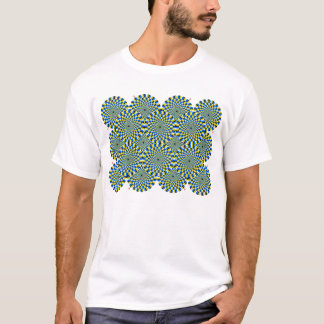 Optical Illusion Wheels T-Shirt