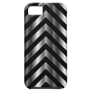 Optical illusion with metal bars and zig zag lines iPhone 5 cover