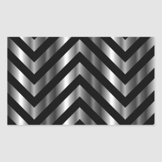 Optical illusion with metal bars and zig zag lines sticker