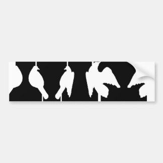 Optical illusion with urns and birds taking flight bumper sticker