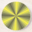 Optical Illusion Yellow Coaster