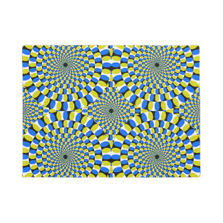 optical illusions 18x24 door mat