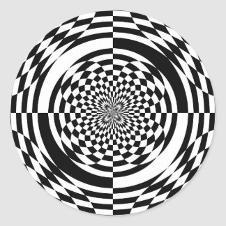Optical illusions classic round sticker