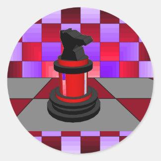 Optical Knight Chess CricketDiane 2013 Round Sticker
