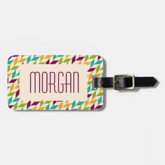 Optical leaves design luggage tag