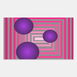 Optical Pink Purple Grey Art Illusion Sticker