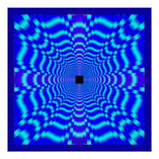 Optical Speed Illusion Poster