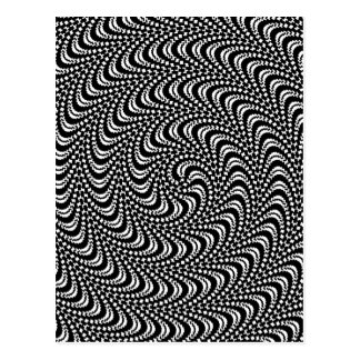 Optical Swirl Colorable Design Postcard