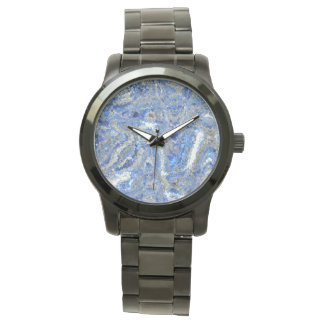 Optical Swirled Blue Wristwatches