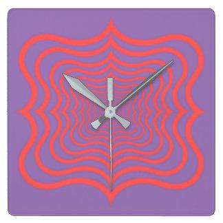 Optical web square wall clock
