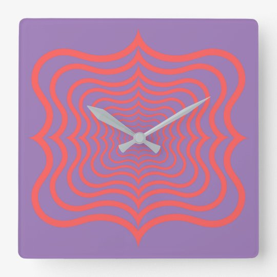 Optical web wall clock