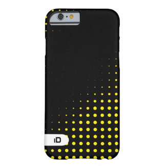 OPTICAL | yellow on black pattern with initials Barely There iPhone 6 Case