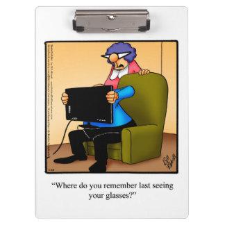 Optician Business Humor Clipboard