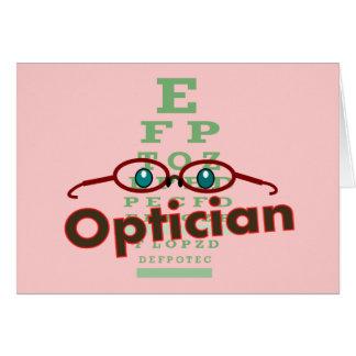 Optician--Eye chart Gifts Greeting Card