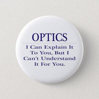Optician Joke .. Explain Not Understand 2 Inch Round Button