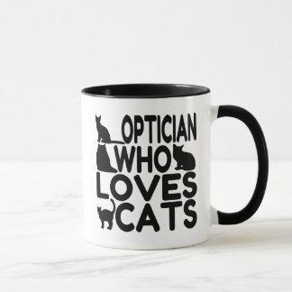 Optician Who Loves Cats Mug