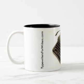 Optima Elite 3 typewriter Two-Tone Coffee Mug