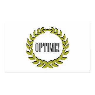 Optime ! L'excellent travail ! Cartes De Visite Professionnelles