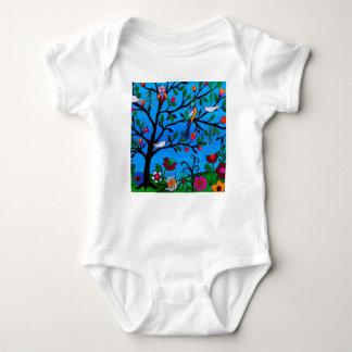 OPTIMISM BIRDS TREE OF LIFE BABY BODYSUIT