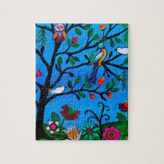 OPTIMISM BIRDS TREE OF LIFE JIGSAW PUZZLE