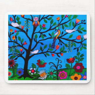 OPTIMISM BIRDS TREE OF LIFE MOUSE PAD