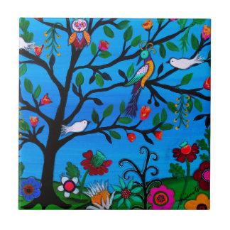 OPTIMISM BIRDS TREE OF LIFE TILE