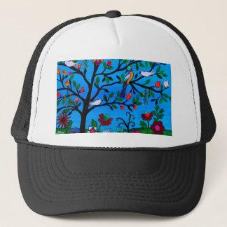 OPTIMISM BIRDS TREE OF LIFE TRUCKER HAT
