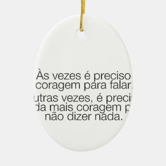 optimism message ceramic oval ornament