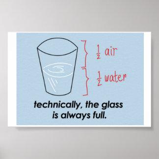 Optimist The Glass is always Full Poster