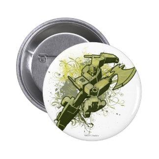 Optimus - Leafy Burst 2 Inch Round Button