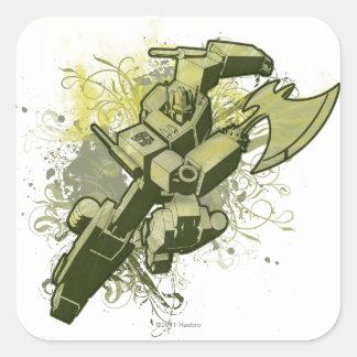 Optimus - Leafy Burst Square Sticker