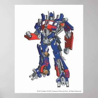 Optimus Prime Line Art 2 Poster