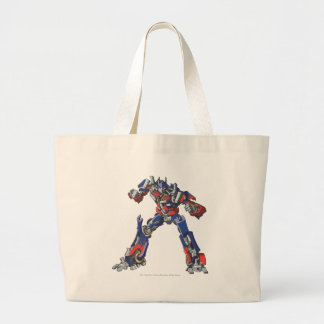 Optimus Prime Line Art 3 Large Tote Bag