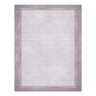 Optional Lines Letterhead with Aged Frame Lilac