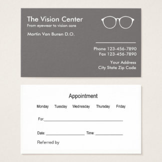 Optometrist And Vision Care Business Card